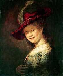 Portrait of the Young Saskia, 1633 von Rembrandt | Gemälde-Reproduktion