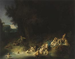 Diana with Actaeon and Callisto, 1634 von Rembrandt | Gemälde-Reproduktion