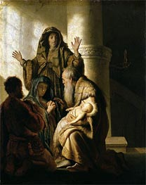 Simeon in the Temple | Rembrandt | Gemälde Reproduktion