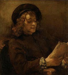 Titus Reading | Rembrandt | Gemälde Reproduktion