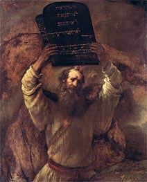 Moses Smashing the Tablets of the Law, 1659 von Rembrandt | Gemälde-Reproduktion