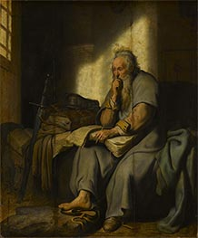 The Apostle Paul in Prison | Rembrandt | Gemälde Reproduktion