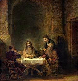 The Supper at Emmaus, 1648 von Rembrandt | Gemälde-Reproduktion
