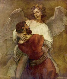 Jacob Wrestling with the Angel, c.1659/60 von Rembrandt | Gemälde-Reproduktion