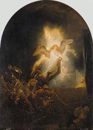 Resurrection of Christ, c.1635 von Rembrandt | Gemälde-Reproduktion
