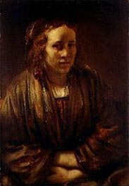 Portrait of Hendrickje Stoffels | Rembrandt | Painting Reproduction