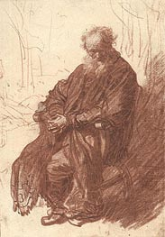Old Man Seated in an Armchair, c.1631 von Rembrandt | Gemälde-Reproduktion