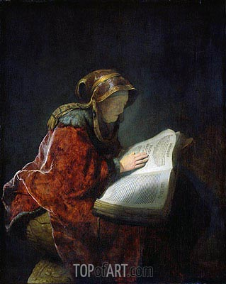 The Prophetess Anna (known as Rembrandt's Mother), 1631 | Rembrandt | Painting Reproduction