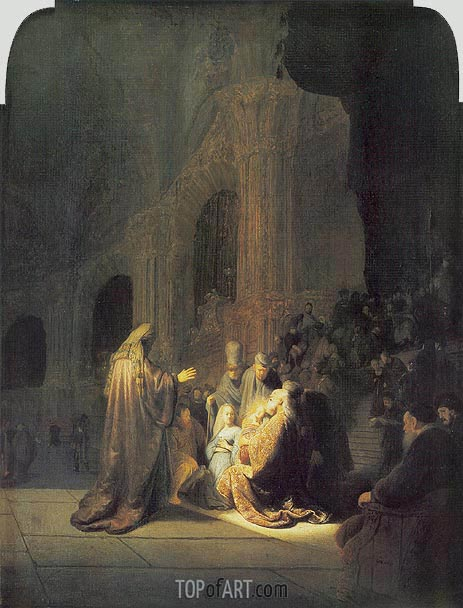 Simeon in Temple, 1631 | Rembrandt | Painting Reproduction