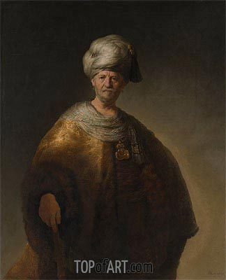 Man in Oriental Costume (The Noble Slav), 1632 | Rembrandt | Painting Reproduction