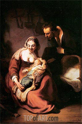 The Holy Family, c.1630 | Rembrandt | Painting Reproduction