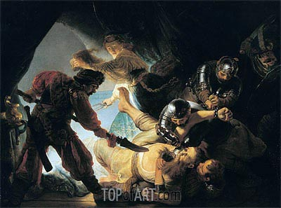 The Blinding of Samson, 1636 | Rembrandt | Painting Reproduction