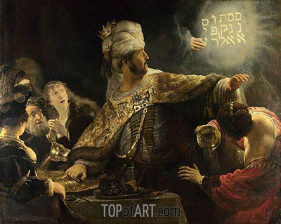 Belshazzar's Feast, c.1635/38 | Rembrandt | Painting Reproduction
