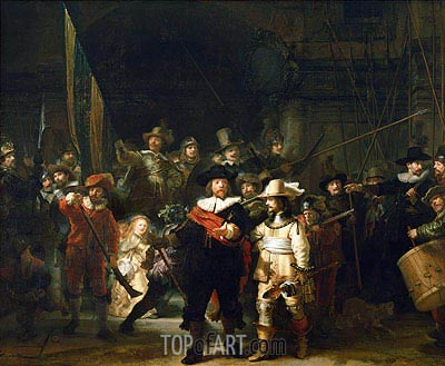 The Night Watch, 1642 | Rembrandt | Painting Reproduction