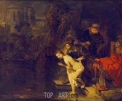 Suzanna in the Bath, 1647 | Rembrandt | Painting Reproduction