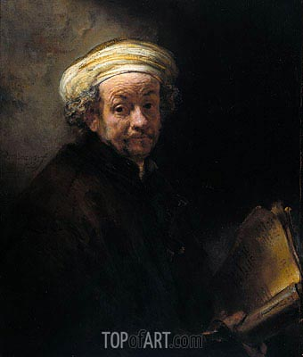Self Portrait as Apostle Paul, 1661 | Rembrandt | Painting Reproduction