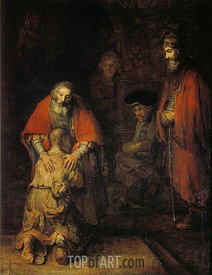 The Return of the Prodigal Son, c.1668 | Rembrandt | Painting Reproduction
