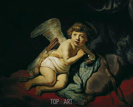Cupid with the Soap Bubble, 1634 | Rembrandt | Gemälde Reproduktion