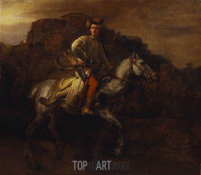 The Polish Rider, c.1655 | Rembrandt | Painting Reproduction
