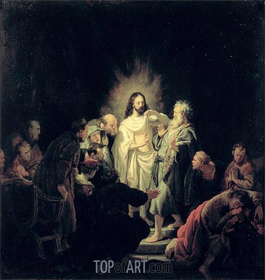 The Incredulity of St Thomas, Undated | Rembrandt | Gemälde Reproduktion