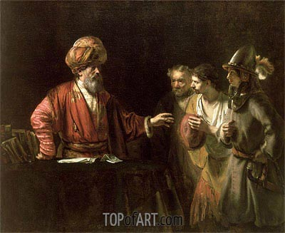 The Centurion Cornelius (The Unmerciful Servant), c.1660 | Rembrandt | Painting Reproduction