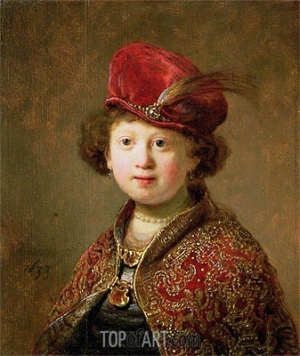 A Boy in Fanciful Costume, 1633 | Rembrandt | Painting Reproduction