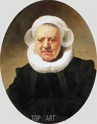Portrait of Aechje Claesdar, 1634 | Rembrandt | Painting Reproduction
