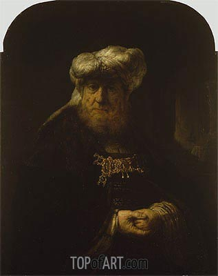 A Man in Oriental Costume, Undated | Rembrandt | Gemälde Reproduktion