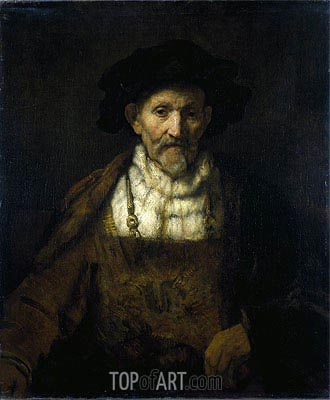 An Old Man in Fanciful Costume, Undated | Rembrandt | Gemälde Reproduktion