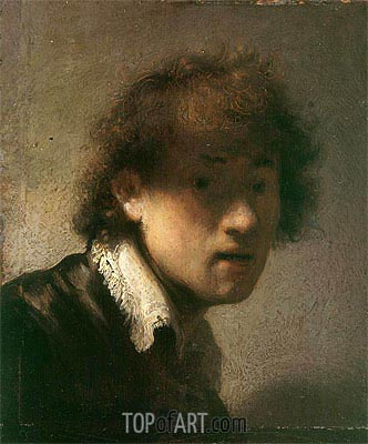 Self-Portrait, 1629 | Rembrandt | Gemälde Reproduktion