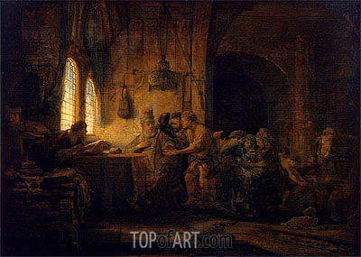 Parable of the Labourers in the Vineyard, 1637 | Rembrandt | Gemälde Reproduktion