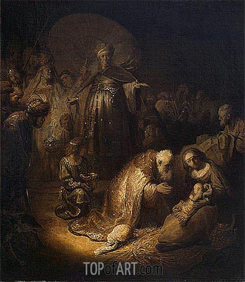 Adoration of the Magi, 1632 | Rembrandt | Painting Reproduction
