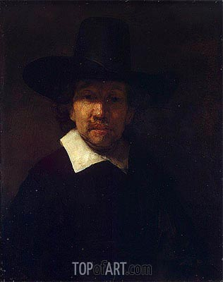 Portrait of the Poet Jeremias de Decker, 1666 | Rembrandt | Gemälde Reproduktion
