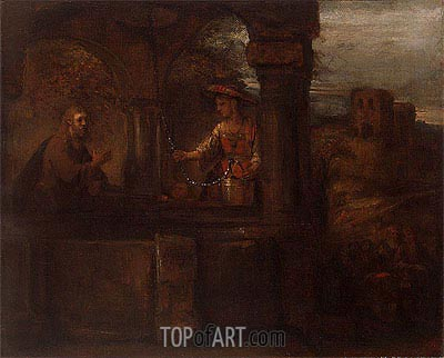 Christ and the Woman of Samaria, 1659 | Rembrandt | Painting Reproduction