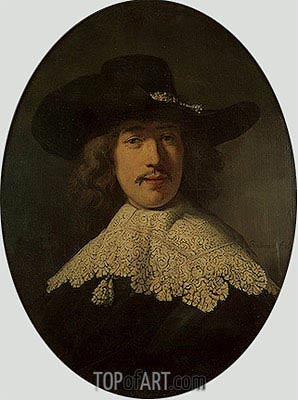 Portrait of a Young Man with a Lace Collar, 1634 | Rembrandt | Painting Reproduction