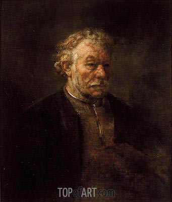 Portrait of Older Man, 1650 | Rembrandt | Gemälde Reproduktion
