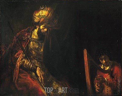 Saul and David, c.1650/55  | Rembrandt | Gemälde Reproduktion