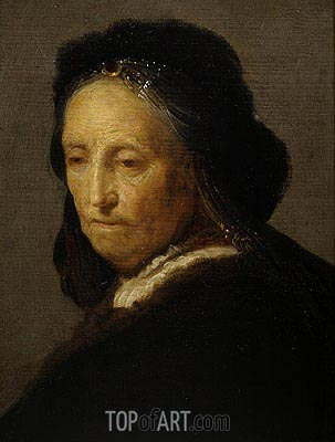 Study of an Old Woman (Rembrandt's Mother), c.1630/35 | Rembrandt | Painting Reproduction