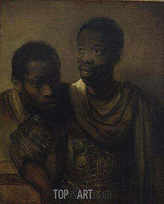 Two Negroes, 1661 | Rembrandt | Gemälde Reproduktion