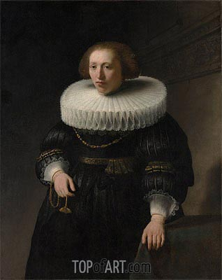 Portrait of a Woman, probably a Member of the Van Beresteyn Family, 1632 | Rembrandt | Gemälde Reproduktion