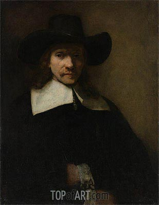 Portrait of a Man, c.1655/60 | Rembrandt | Painting Reproduction