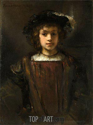 Rembrandt's Son Titus, Undated | Rembrandt | Painting Reproduction