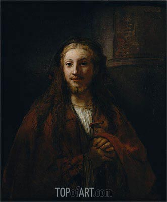 Christ with a Staff, 1661 | Rembrandt | Gemälde Reproduktion