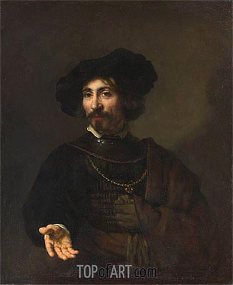 Man with a Steel Gorget, 1644 | Rembrandt | Painting Reproduction