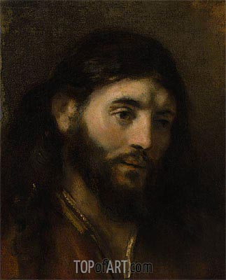 Head of Christ, Undated | Rembrandt | Painting Reproduction