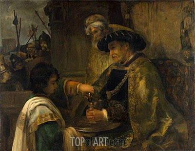 Pilate Washing His Hands, Undated | Rembrandt | Painting Reproduction