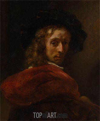 Man in a Red Cloak, Undated | Rembrandt | Gemälde Reproduktion