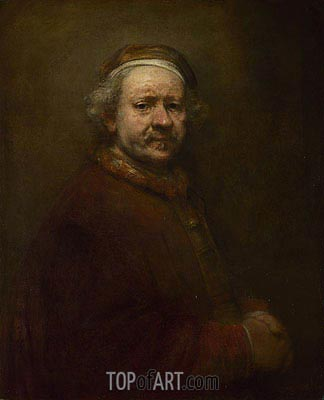 Self Portrait at the Age of 63, 1669 | Rembrandt | Painting Reproduction