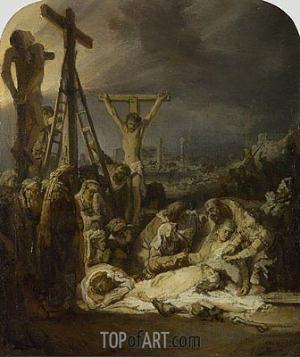 The Lamentation over the Dead Christ, c.1635 | Rembrandt | Gemälde Reproduktion