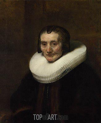 Portrait of Margaretha de Geer, Wife of Jacob Trip, 1661 | Rembrandt | Painting Reproduction